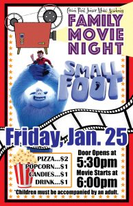 PTO Sponsored Family Movie Night