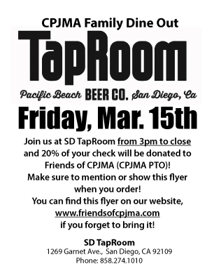 CPJMA Family Dine Out - Tap Room @ Tap Room